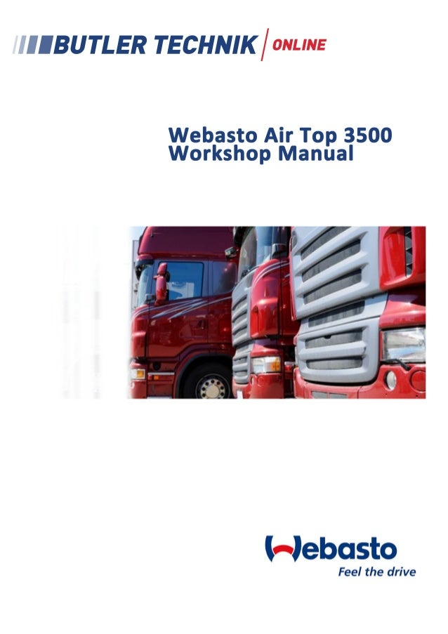 Air Heaters  Workshop Manual  Air Top 3500 Air Top 5000 Type AT 3500 D (Diesel) Type AT 5000 D (Diesel)  07/2000