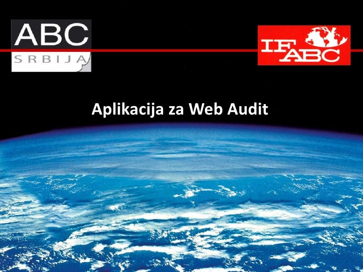 Aplikacija za Web Audit