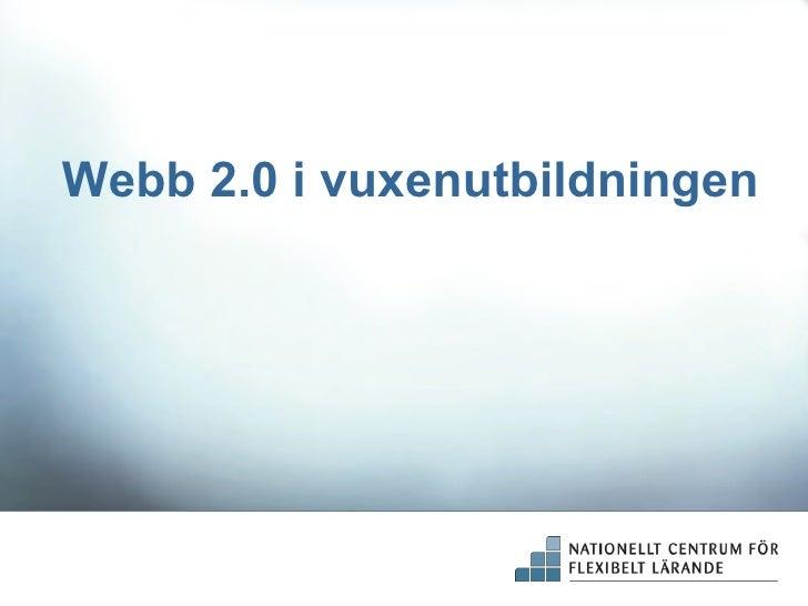 Webb 2 i vuxenutbildningen