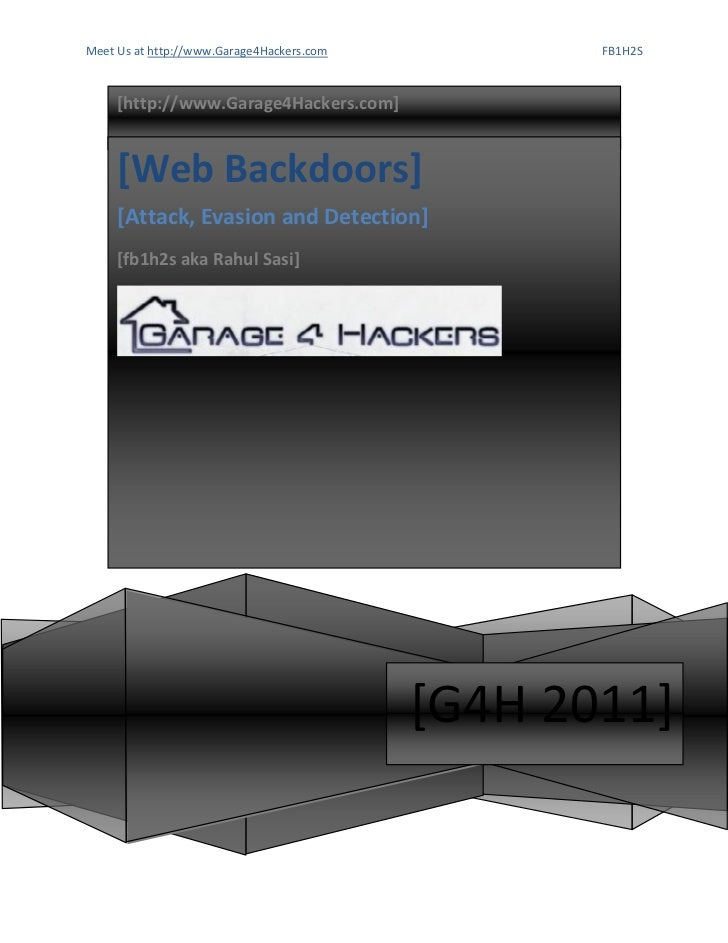 Web backdoors   attacks, evasion, detection