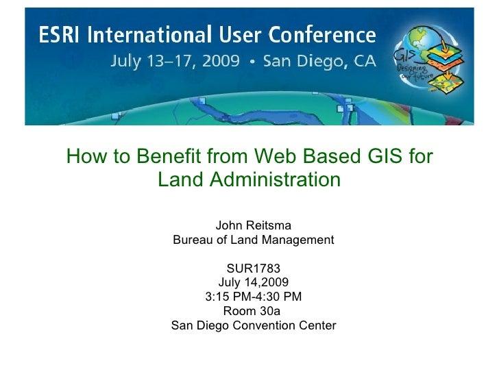 Web Based Gis For Land Administration 20090629