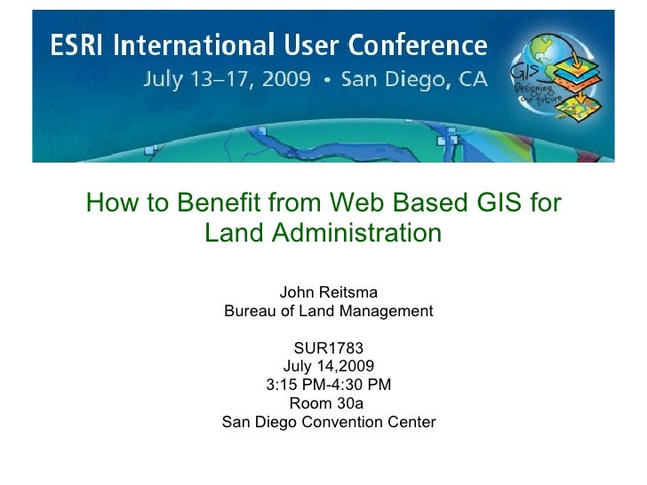 Web Based Gis For Land Administration 20090629