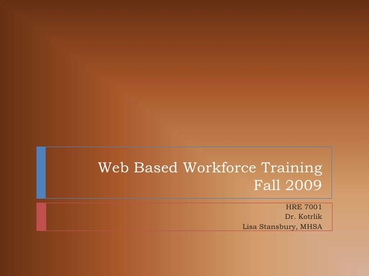 Web Based Workforce Training Presentation
