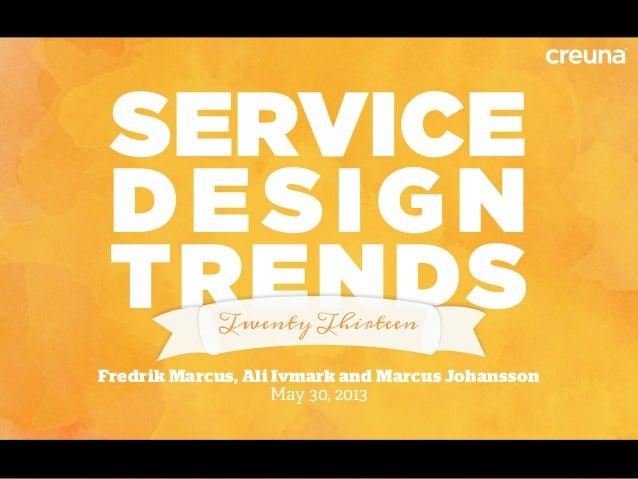 Webbdagarna: Service Design Trends 2013