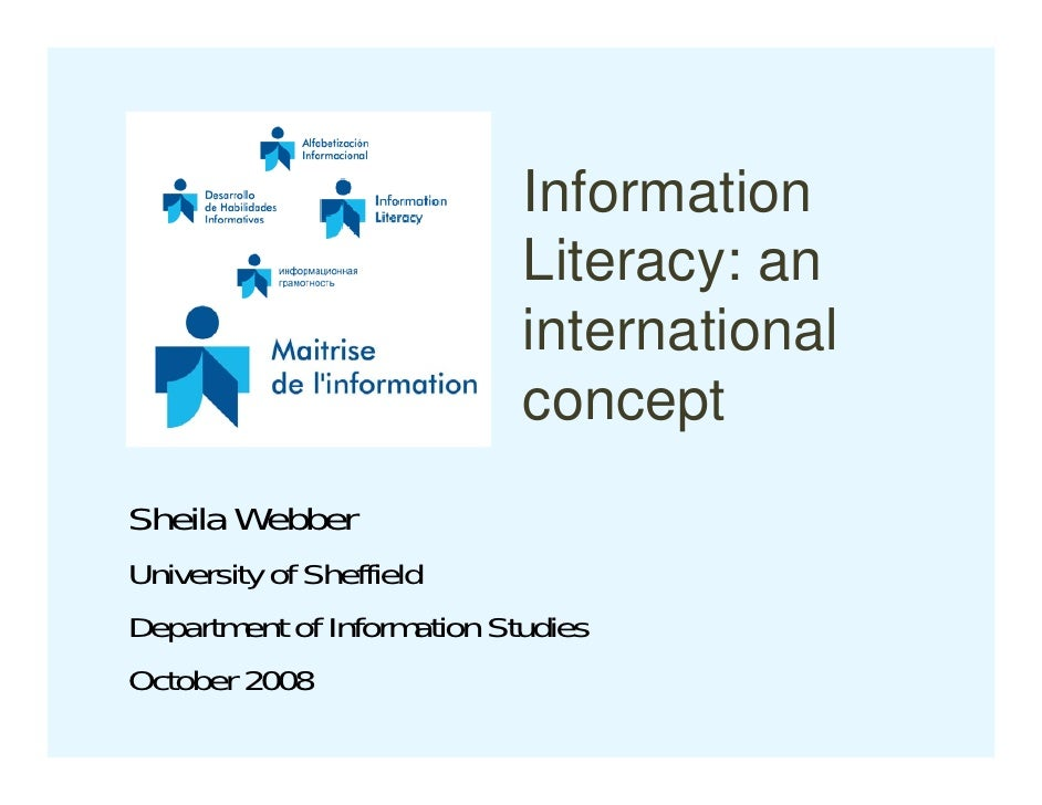 Information Literacy: an international concept