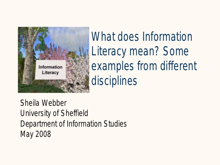 What does Information                      Literacy mean? Some                      examples from different               ...