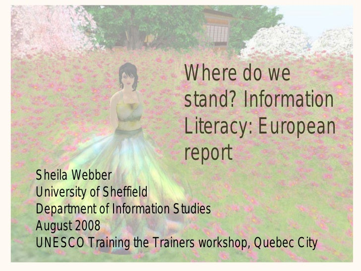Where do we                           stand? Information                           Literacy: European                     ...
