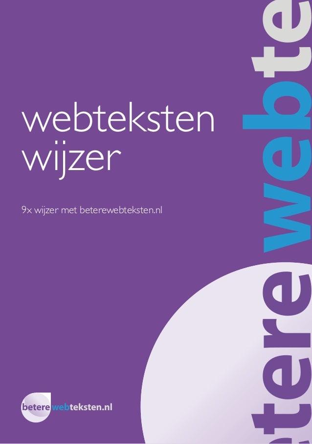 webteksten wijzer 9x wijzer met beterewebteksten.nl