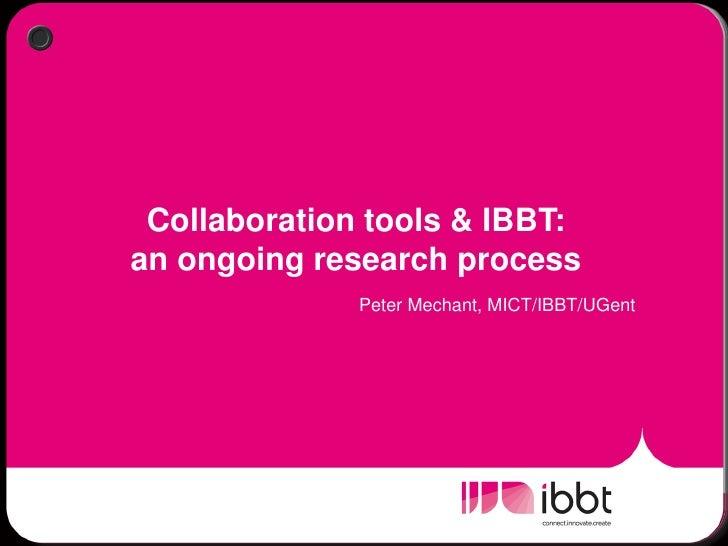 Break out: Collaboration tools - Peter Mechant
