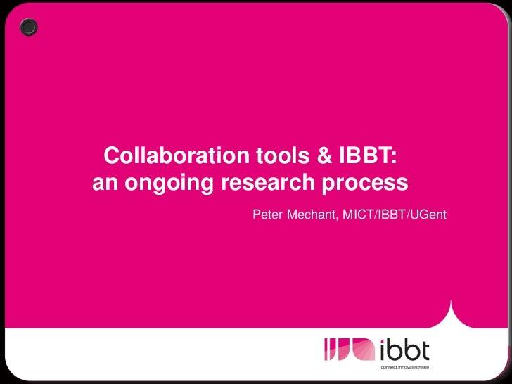 Break out Collaboration Tools - Peter Mechant