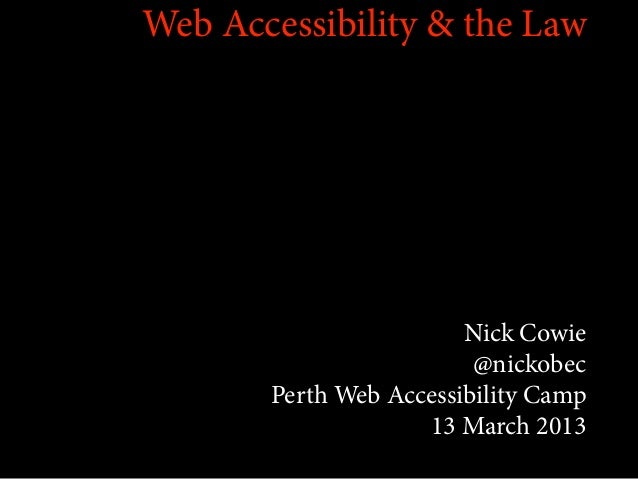 Web Accessibility and the courts