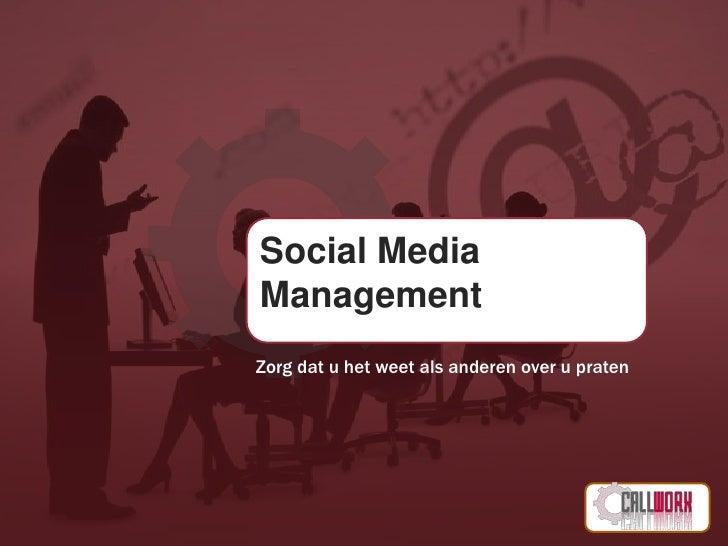 CallWorX - Social Media Management