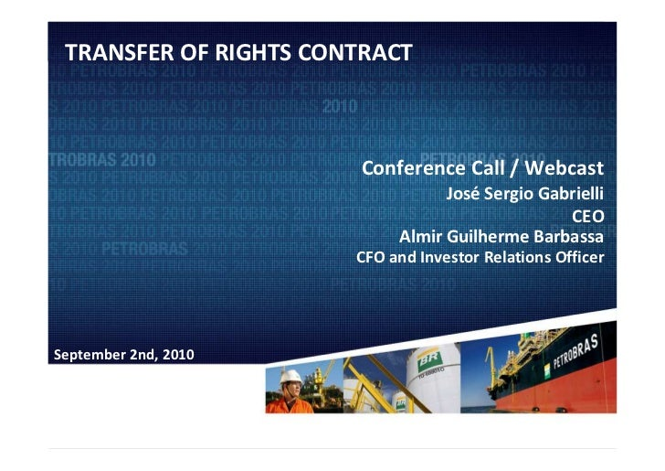 Webcast: Transfer of Rights Agreement