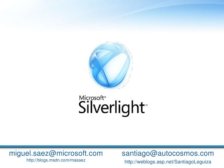 Webcast 09/2008 - Silverlight 2 Beta 2
