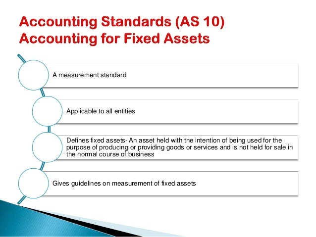 Accounting Standard -10 Property, Plant and Equipment (Revised)
