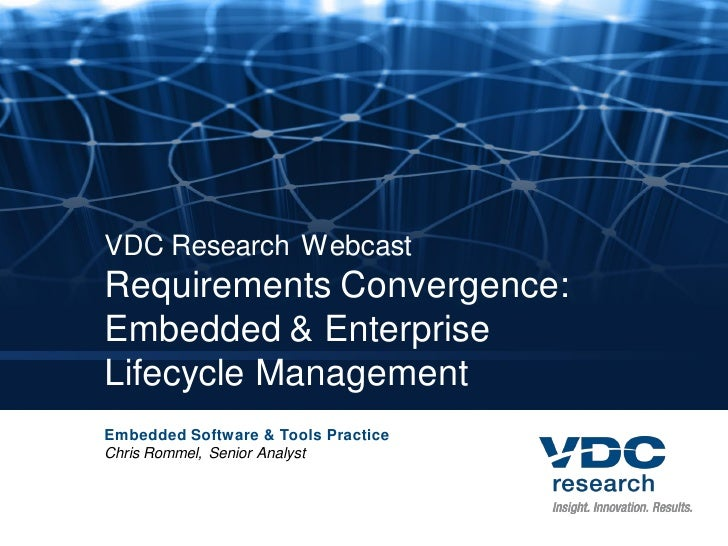Requirements Convergence: Embedded & Enterprise Lifecycle Management
