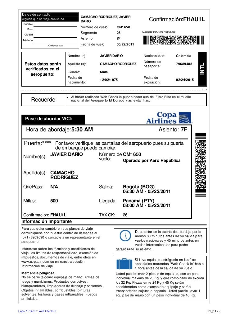 Datos de contacto                                                  CAMACHO RODRIGUEZ, JAVIER  Alguien que no viaje con ust...