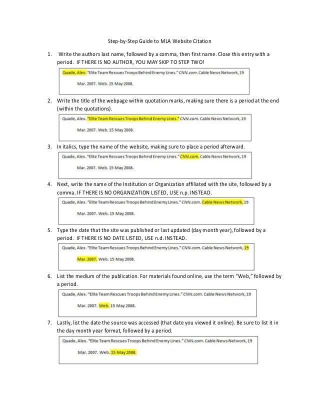 MLA Web Citation
