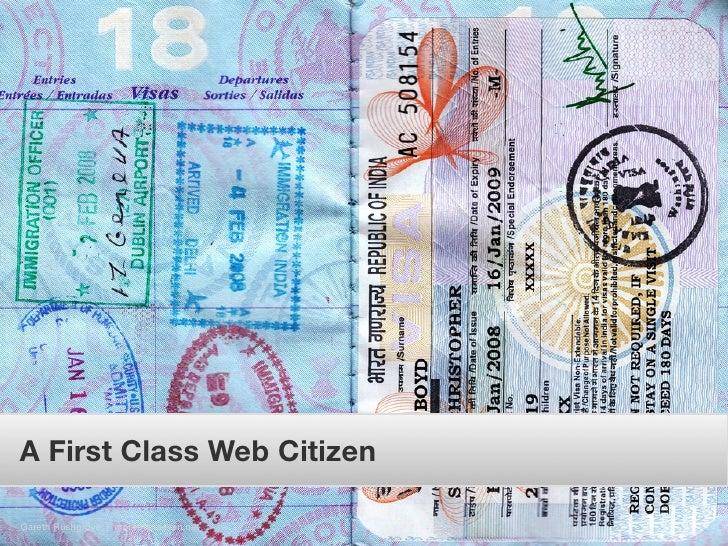 A First Class Web Citizen