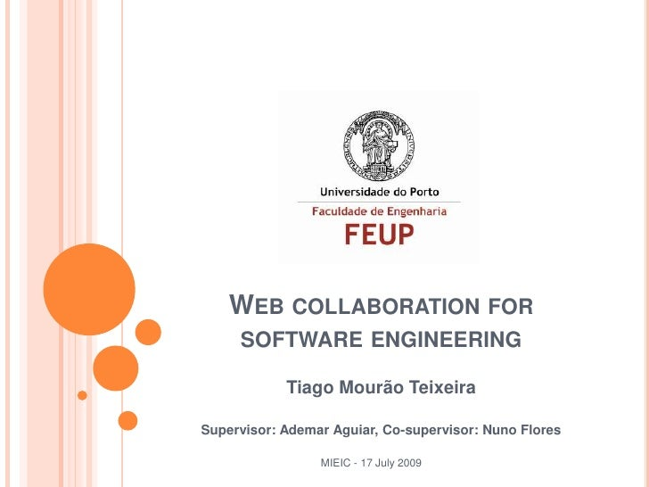 Web Collaboration for Software Engineering