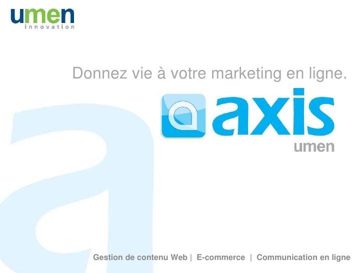 Système de gestion de contenu axis