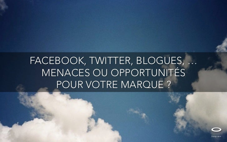 Média sociaux. Menaces ou opportunités pour les marques ?