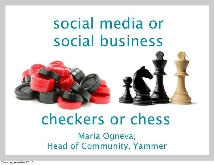 Social Media vs. Social Business - Webcom Montreal Keynote