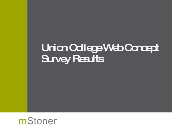 Web concept test results