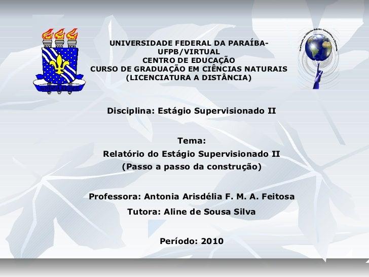 Webconferencia estagio supervisionado ii