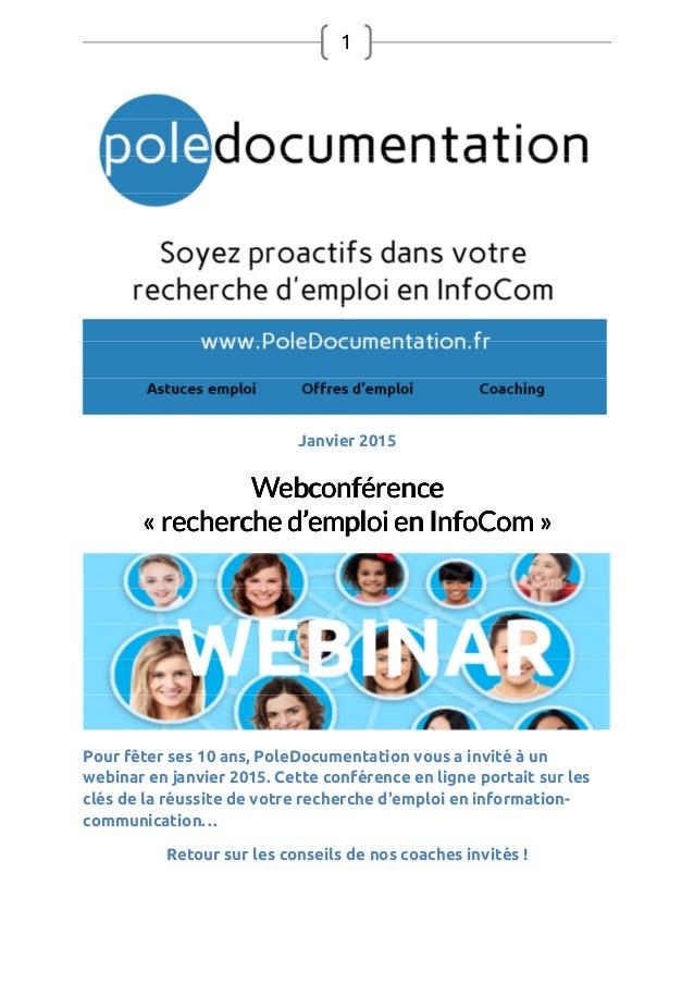 1 Janvier 2015 WebconférenceWebconférenceWebconférenceWebconférence «««« recherche drecherche drecherche drecherche d''''e...