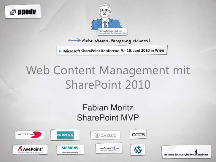 Web Content Management mit SharePoint 2010