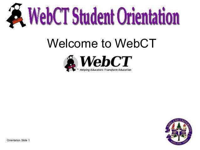 Web Ct Student Orient