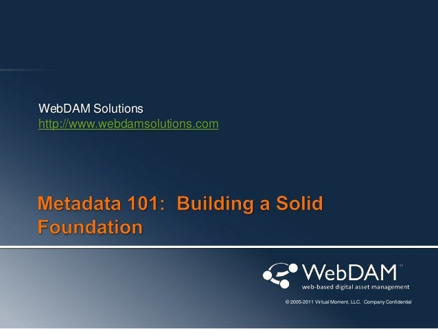 Metadata 101: Building a Solid Foundation