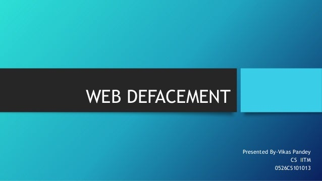 Web defacement