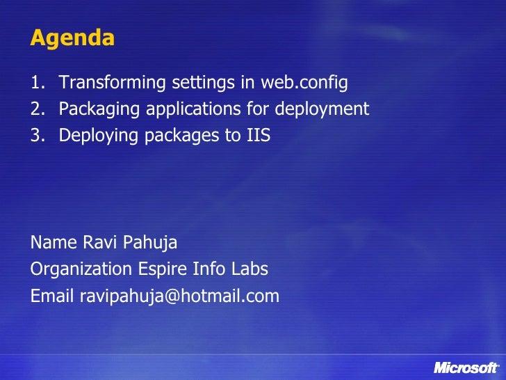 Web Deployment With Visual Studio 2010