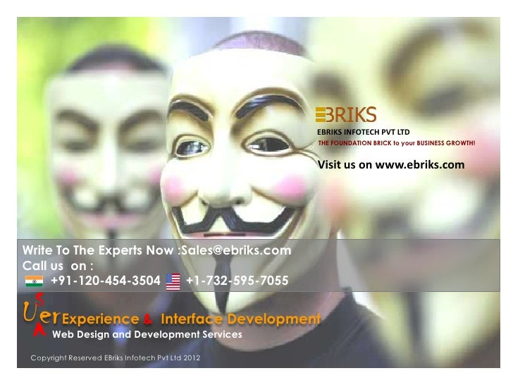 EBRIKS INFOTECH PVT LTD                                                   THE FOUNDATION BRICK to your BUSINESS GROWTH!   ...