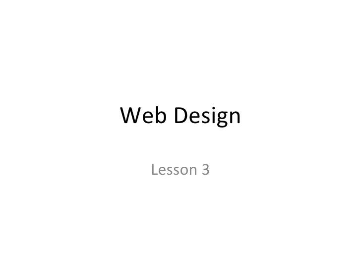 Web Design Lesson 3
