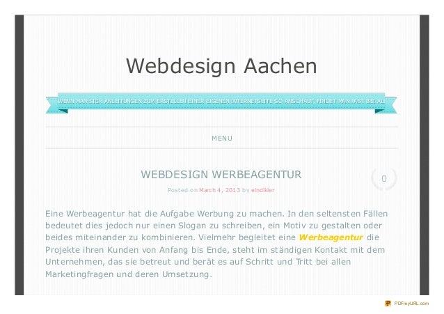 Webdesign Aachen  WENN MAN SICH ANLEITUNGEN ZUM ERSTELLEN EINER EIGENEN INTERNETSEITE SO ANSCHAUT, FINDET MAN FAST BEI ALL...