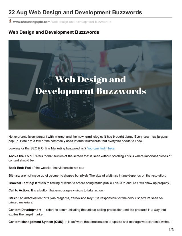 web design and development buzzwords responsive design is in hot list of buzzwords but for