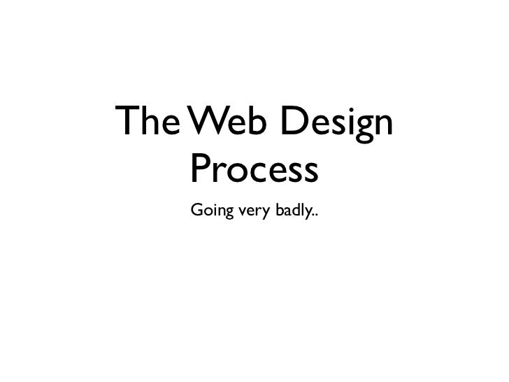 The Web Design    Process   Going very badly..