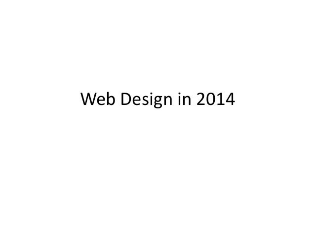 Web Design in 2014