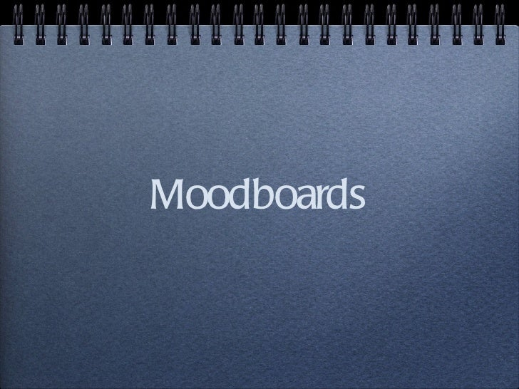 Web design moodboards