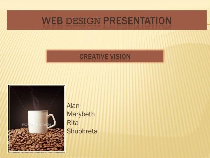 Web Design Presentation Creative Vision