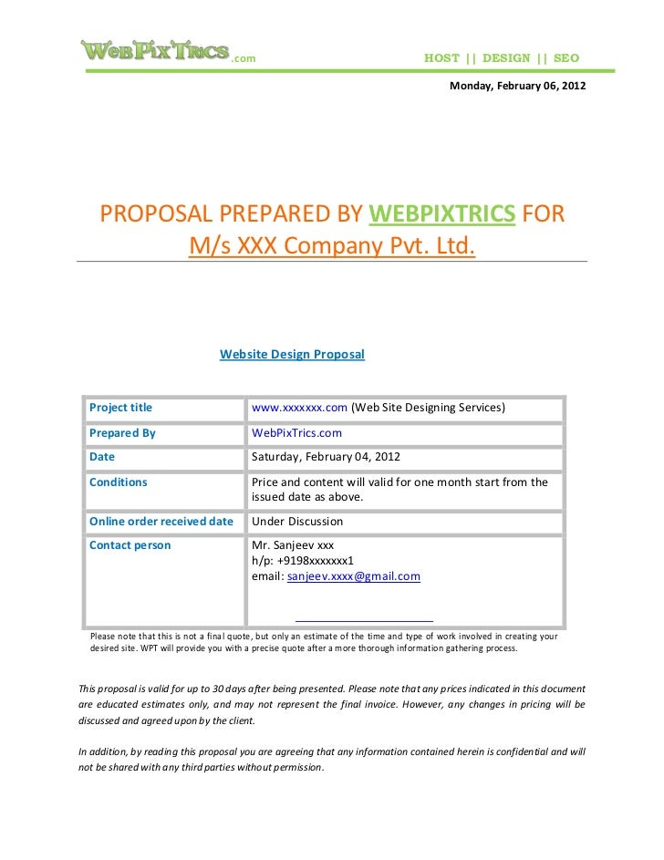 Top Web Design Proposal Sample Template 728 x 943 · 102 kB · jpeg