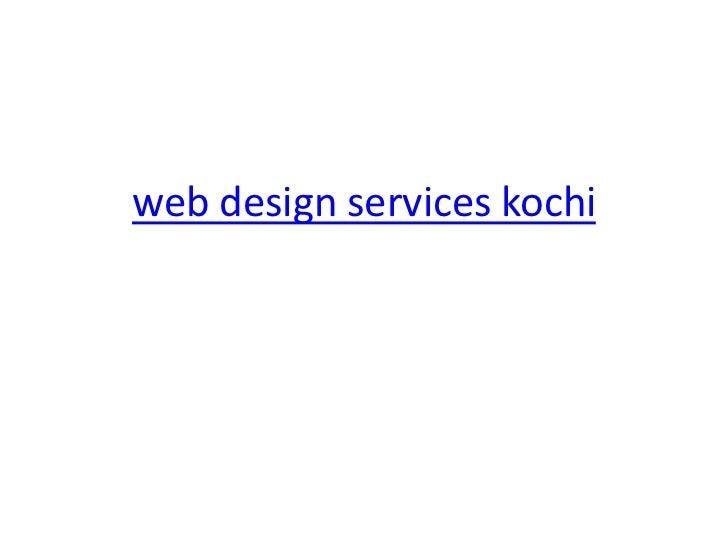 web design services kochi