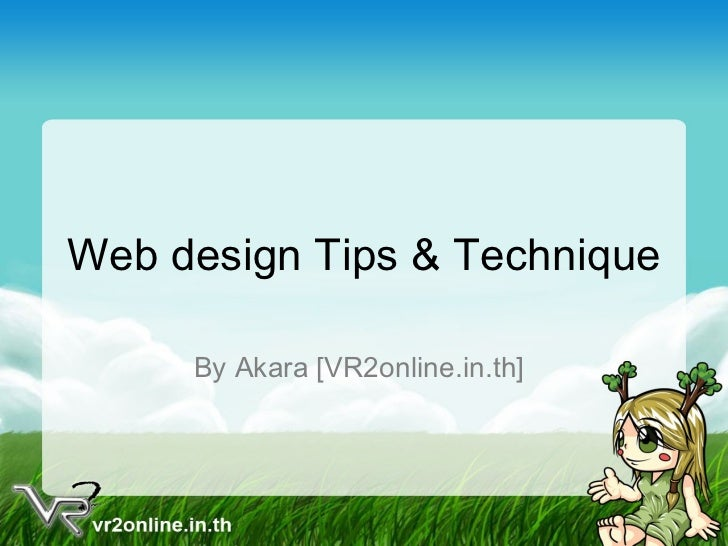 Web design Tips & Technique By Akara [VR2online.in.th]