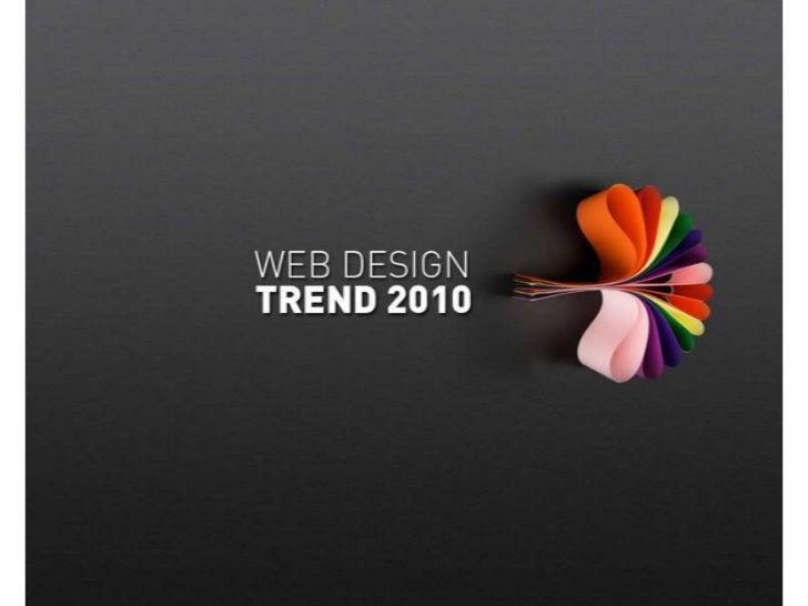 Web design trend 2010