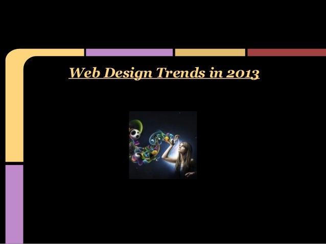 Web design trends in 2013  11.2