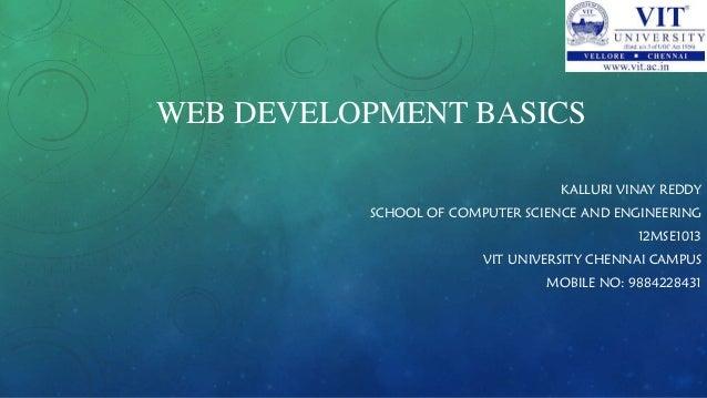 Web development basics