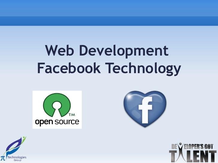 Web DevelopmentFacebook Technology